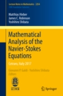 Mathematical Analysis of the Navier-Stokes Equations : Cetraro, Italy 2017 - eBook