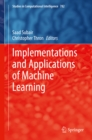 Implementations and Applications of Machine Learning - eBook
