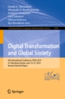 Digital Transformation and Global Society : 4th International Conference, DTGS 2019, St. Petersburg, Russia, June 19-21, 2019, Revised Selected Papers - eBook