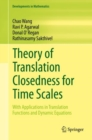 Theory of Translation Closedness for Time Scales : With Applications in Translation Functions and Dynamic Equations - eBook