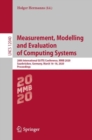 Measurement, Modelling and Evaluation of Computing Systems : 20th International GI/ITG Conference, MMB 2020, Saarbrucken, Germany, March 16-18, 2020, Proceedings - eBook