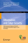 Information and Cyber Security : 18th International Conference, ISSA 2019, Johannesburg, South Africa, August 15, 2019, Proceedings - eBook