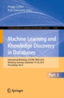 Machine Learning and Knowledge Discovery in Databases : International Workshops of ECML PKDD 2019, Wurzburg, Germany, September 16-20, 2019, Proceedings, Part II - eBook