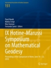 IX Hotine-Marussi Symposium on Mathematical Geodesy : Proceedings of the Symposium in Rome, June 18 - 22, 2018 - eBook