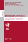 Electronic Government : 19th IFIP WG 8.5 International Conference, EGOV 2020, Linkoping, Sweden, August 31 - September 2, 2020, Proceedings - eBook