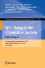 Well-Being in the Information Society. Fruits of Respect : 8th International Conference, WIS 2020, Turku, Finland, August 26-27, 2020, Proceedings - eBook