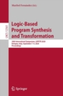 Logic-Based Program Synthesis and Transformation : 30th International Symposium, LOPSTR 2020, Bologna, Italy, September 7-9, 2020, Proceedings - eBook
