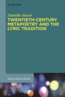 Twentieth-Century Metapoetry and the Lyric Tradition - eBook