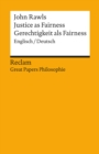 Justice as Fairness / Gerechtigkeit als Fairness (Englisch/Deutsch) - eBook