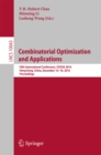 Combinatorial Optimization and Applications : 10th International Conference, COCOA 2016, Hong Kong, China, December 16-18, 2016, Proceedings - eBook