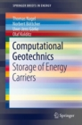 Computational Geotechnics : Storage of Energy Carriers - eBook