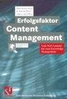 Erfolgsfaktor Content Management : Vom Web Content bis zum Knowledge Management - eBook