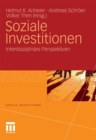 Soziale Investitionen : Interdisziplinare Perspektiven - eBook