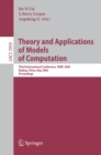 Theory and Applications of Models of Computation : Third International Conference, TAMC 2006, Beijing, China, May 15-20, 2006, Proceedings - eBook