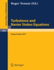Turbulence and Navier Stokes Equations : Proceedings of the Conference Held at the University of Paris-Sud, Orsay, June 12 - 13, 1975 - eBook