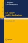 Set Theory and its Applications : Proceedings of a Conference held at York University, Ontario, Canada, Aug. 10-21, 1987 - eBook
