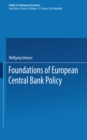 Foundations of European Central Bank Policy - eBook