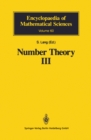 Number Theory III : Diophantine Geometry - eBook