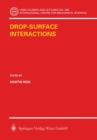 Drop-Surface Interactions - eBook