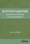 In Statu Nascendi - Journal of Political Philosophy and International Relations 2021/1 - Book