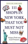 111 Shops in New York That You Must Not Miss - Book