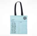 LIBRARY CARD TOTE BAG MINT - Book