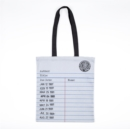 LIBRARY CARD TOTE BAG GREY - Book