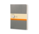 Moleskine Pebble Grey Ruled Cahier Extra Large Journal (3 Set) - Book