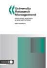 University Research Management Developing Research in New Institutions - eBook