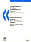 Measuring Globalisation: Activities of Multinationals 2007, Volume I, Manufacturing Sector - eBook