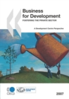 Business for Development Fostering the Private Sector - eBook