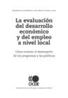 La evaluacion del desarrollo economico y del empleo a nivel local - eBook
