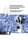 Local Economic and Employment Development (LEED) Entrepreneurship and Local Economic Development Programme and Policy Recommendations - eBook