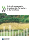 Policy Framework for Investment in Agriculture in Burkina Faso - eBook