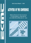 Activities of the Conference: Resolutions of the Council of Ministers of Transport and Reports Approved 1999 - eBook