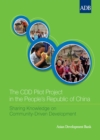 The CDD Pilot Project in the People's Republic of China - eBook