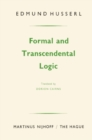 Formal and Transcendental Logic - eBook