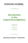 Introduction to the Logical Investigations : A Draft of a Preface to the Logical Investigations (1913) - eBook