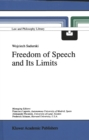 Freedom of Speech and Its Limits - eBook