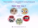 Picture sound book for young children for learning Chinese words related to Human body  Volume 1 - eBook
