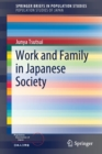 Work and Family in Japanese Society - Book
