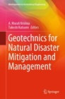 Geotechnics for Natural Disaster Mitigation and Management - Book