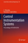 Control Instrumentation Systems : Proceedings of CISCON 2018 - Book