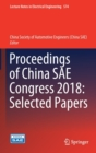 Proceedings of China SAE Congress 2018 : Selected Papers - Book