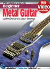 Metal Guitar Lessons for Beginners : Teach Yourself How to Play Guitar (Free Video Available) - eBook