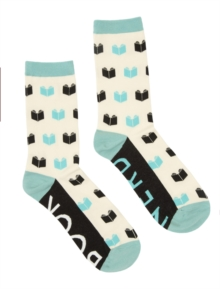Book Nerd SOCKS-1023-04-LRG, Paperback Book