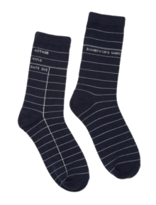 Library Card Navy SOCKS-1025-04-LRG, Paperback Book