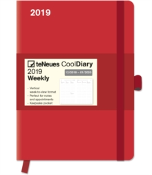2019 RED COOL DIARY 16 X 22 CM,  Book