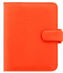 FILOFAX SAFFIANO POCKET BRIGHT ORANGE,  Book
