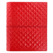 A5 DOMINO LUXE ORGANISER RED,  Book